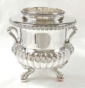 Sheffield Plate Champagne Cooler, English, 19th Century
