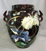 Significant Art Nouveau Sarreguemines Majolica Jardiniere