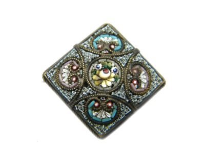 Micro Mosaic Brooch or Pin