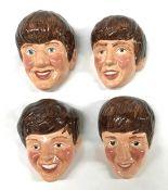 The Beatles Vintage Kelsboro Ware Ceramic Wall Plaques, England Circa 1964