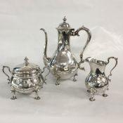 Tiffany & Co. Vintage Sterling Silver Three Piece Coffee Service