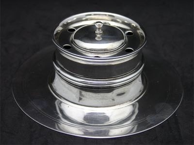 Unique Sterling Inkwell