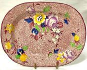 Vibrant Earthenware Platter, England, Circa 1921-32
