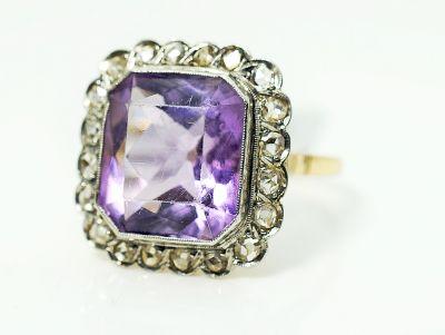 Victorian Amethyst and Diamond Ring