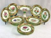 Victorian Hand Painted English Dessert Service
