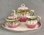 Victorian 4 Piece Porcelain Child's Tea Set