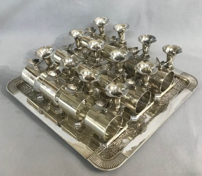 Victorian Figural Silver Plate Napkin Ring/Bud Vase