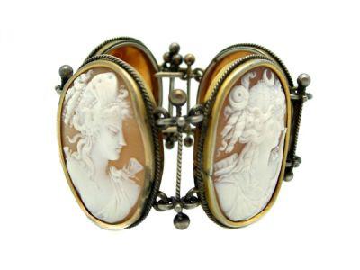 Cameo Bracelet Grecian Goddess Victorian