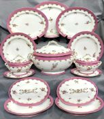 Victorian Hand Painted China, Unmarked, Attributed Minton, Circa 1850