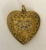 Victorian Heart Shape Gold Filled Double Picture Locket