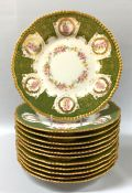Victorian Limoges Luncheon Plates, Made In France Circa 1895-1900
