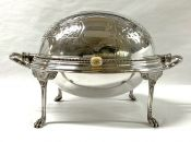 Victorian Silver Plated Roll Top Breakfast Server, English, Circa 1890