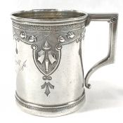 Victorian Sterling Silver Christening Cup, Circa 1871