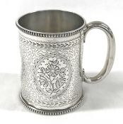 Victorian Sterling Silver Christening Cup, London 1878