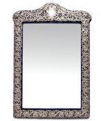Victorian Sterling Silver Framed Mirror, Birmingham 1897