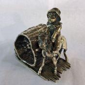 Victorian Silver-Pate Figural Napkin Ring