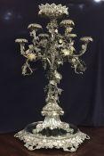 Victorian Silver Plate Presentation Candelabra Centrepiece