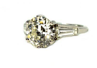 Vintage 2.45ct Diamond Ring