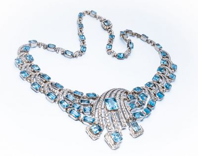 Vintage Aquamarine Necklace