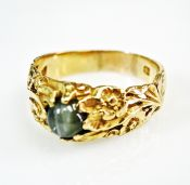 Vintage Cat's Eye Solitaire Ring