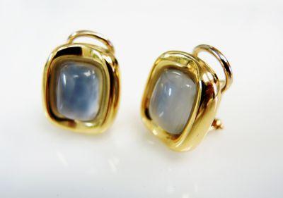 Vintage Chalcedony Earrings