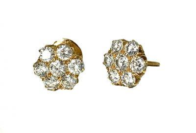 Vintage Diamond Cluster Earrings