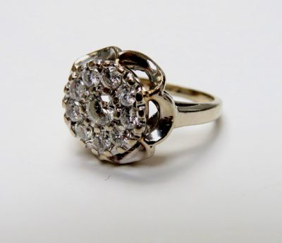 Vintage Diamond Floral Cluster Ring