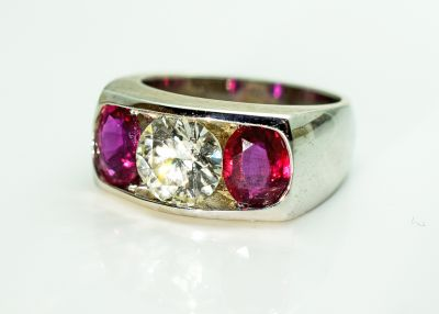Vintage Diamond and Ruby Ring