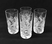 Vintage Cut Crystal Highball Glasses, Czech, Circa 1960s