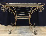 Vintage Gilt Metal Cart (Bar/Tea)