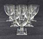 "Vintage Lalique Crystal Water Goblet/Large Wine Glass In The ""Argos"" Pattern"
