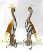 Vintage Murano Glass Birds, Italy circa 1970