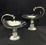 Vintage Sterling Silver Tazzas by Petersen