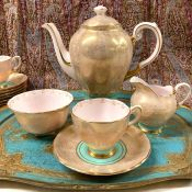 Vintage Tuscan Fine English Bone China Coffee Set, circa 1950s