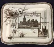 Wallis Gimson & Co Antique Brown Transfer Ware Platter