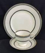 "Wedgwood ""Colonnade Black"" Dinner Service Pattern R4340"