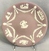 Wedgwood Jasperware Lavender Cabinet Plate