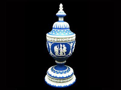 Wedgwood Jasperware Urn with Cover