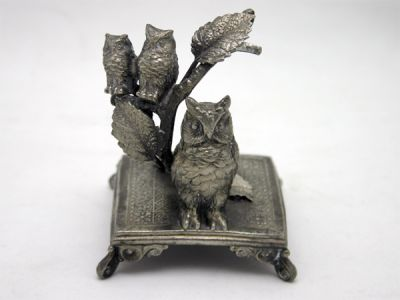 Whimsical Decorative Object with Owl Motif