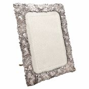 Aesthetic Movement Repose Silver Photo Frame With Beveled Glass
