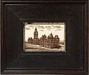 Antique Earthenware Tile Of The Parliament Buildings In Ottawa