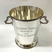 Art Deco Silver Plate Champagne Cooler/Seagram Trophy