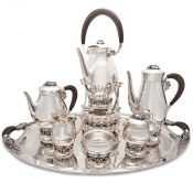Art Moderne Mexican Sterling Silver Tea and Coffee Set