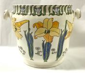 "Art Nouveau Furnivals Ltd. ""Lily"" Pattern Pail Jardiniere"