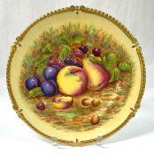 Aynsley Bone China Orchard Gold Pattern Cabinet Plate, Pattern # 7964