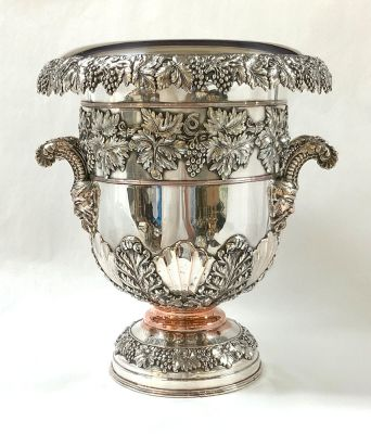 Barker Ellis Silver Plate Champagne Cooler, Late 19th Century