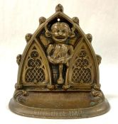 Bronze Lincoln Imp Bookend/Doorstop, English, Early 20th Century