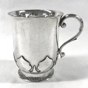 English Arts & Crafts Sterling Silver Christening Cup, Circa 1923