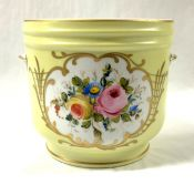 French Porcelain Jardiniere, Signed Decore Main