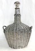 Gorham Sterling Silver Overlay Decanter, Circa 1910-20